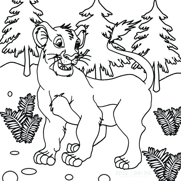 600x600 Simba Coloring Page Coloring Pages Simbas Pride Coloring Pages