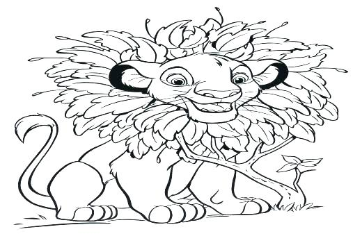 520x350 Simba Coloring Page The Lion King Of The Coloring Pages Lion
