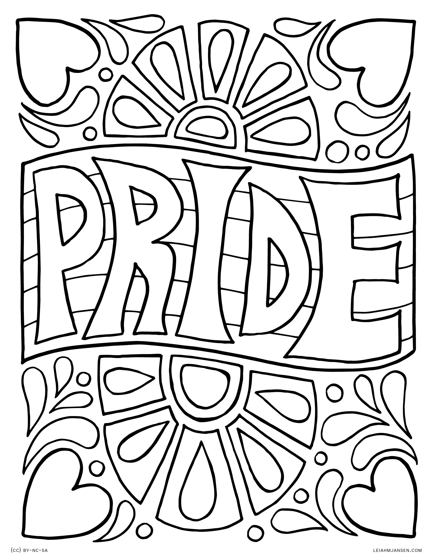 1700x2200 Pride Coloring Pages
