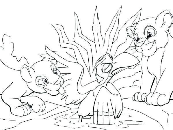 599x450 Lion King Color Pages Lion King Colouring Pages Lion King Coloring