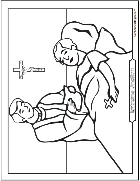 590x762 Extreme Unction Coloring Page