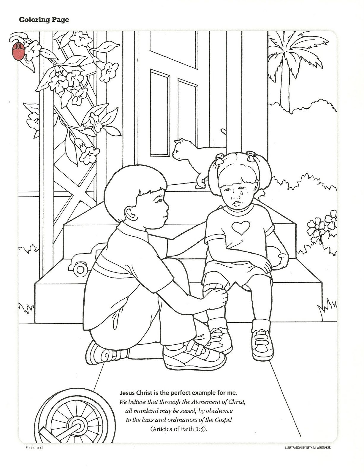 1226x1600 Lds Primary Coloring Pages Activity From The Friend, September
