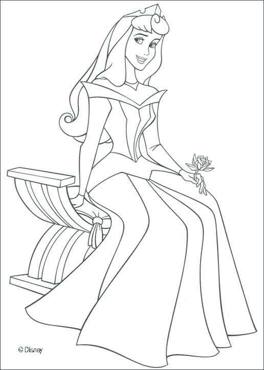 516x723 Aurora Coloring Pages Princess Aurora Coloring Pages Within