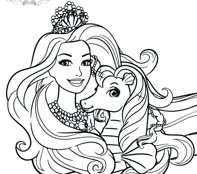 678x600 Free Barbie Coloring Pages Coloring Pages Of Barbie Princess
