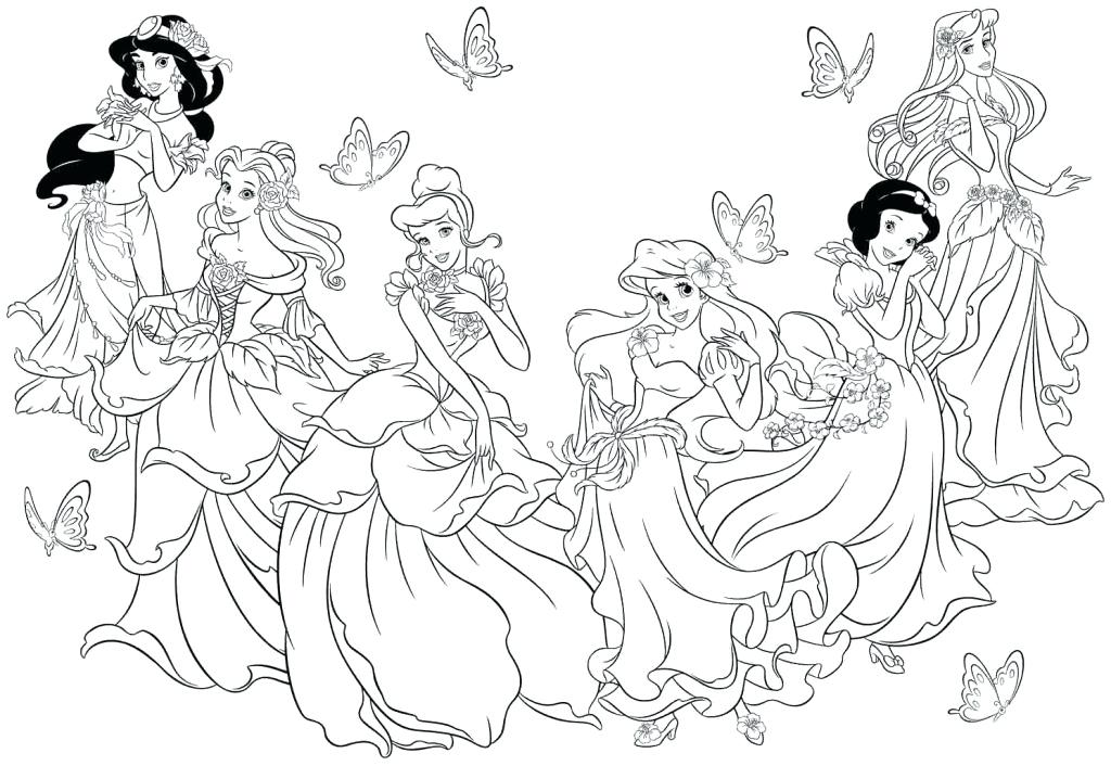 1024x706 Princess Print Out Coloring Pages