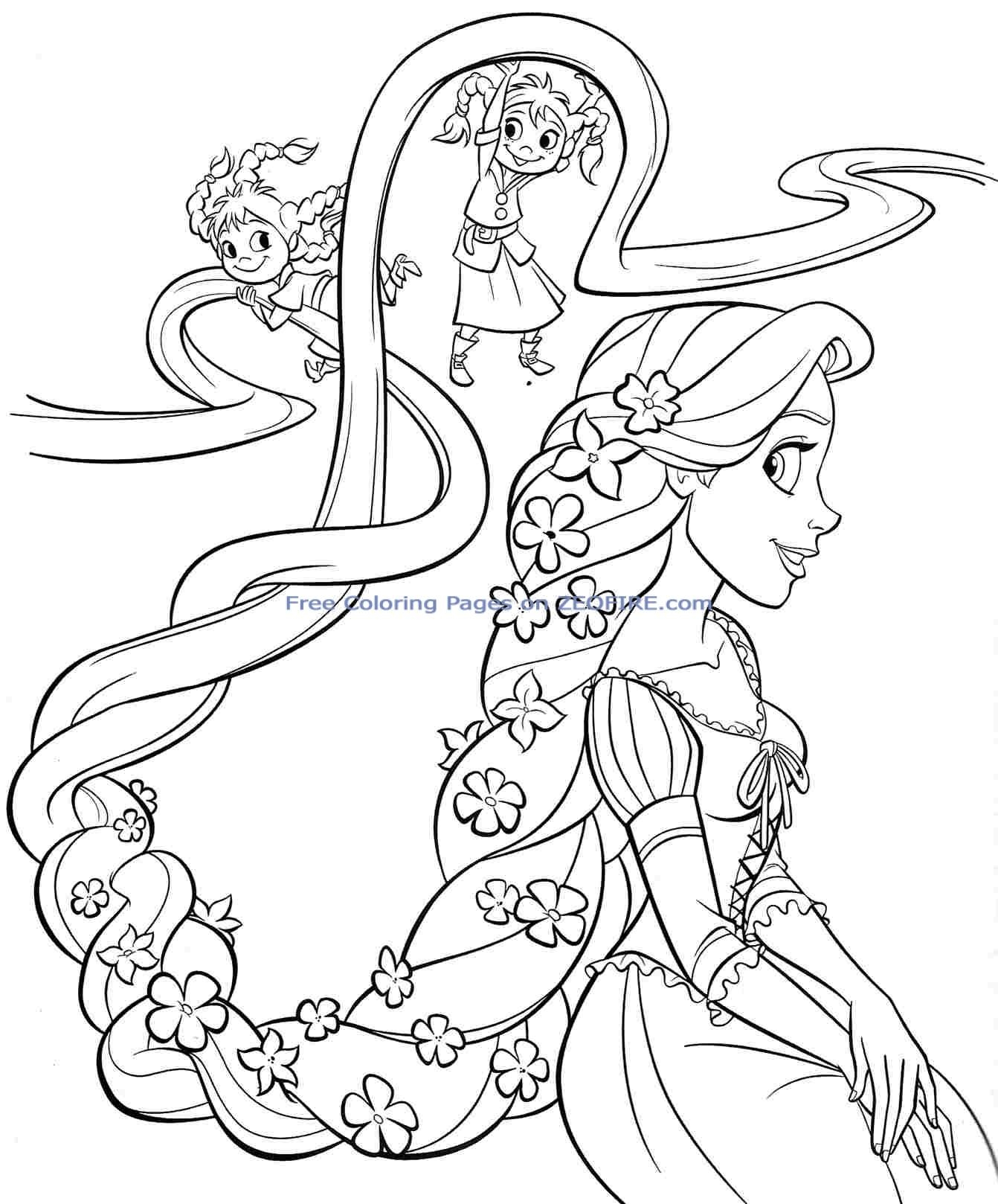 1342x1618 Baby Princess Coloring Pages To Download And Print For Free