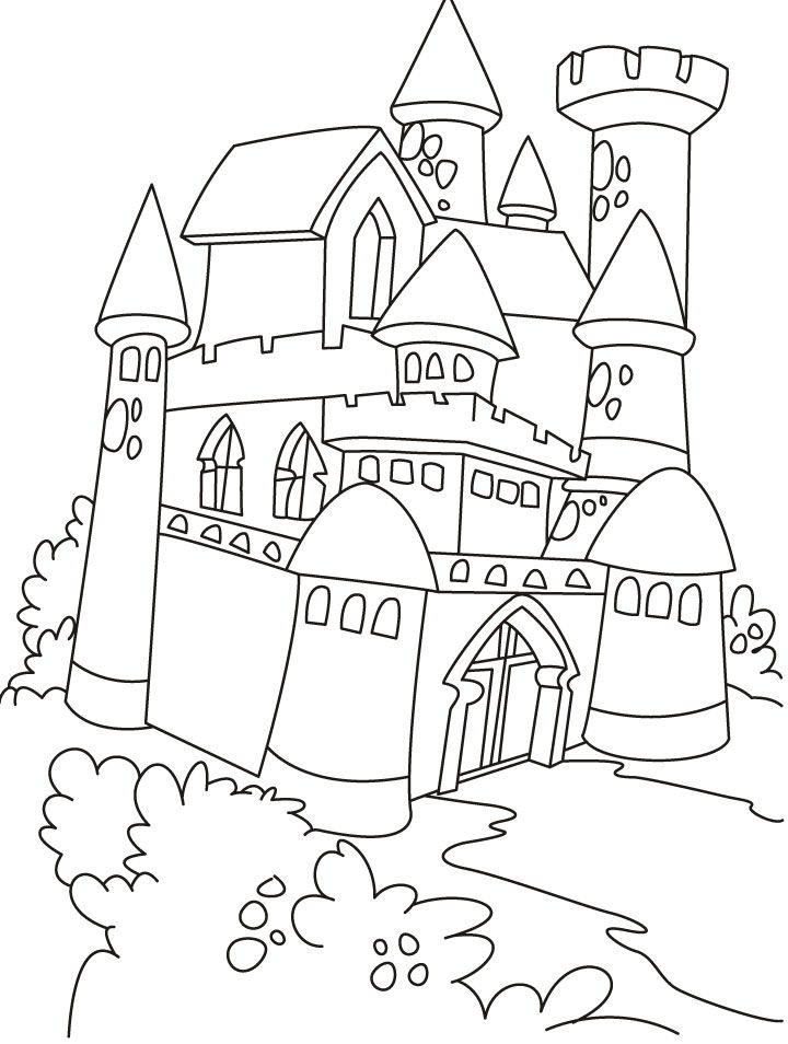 720x954 Free Printable Castle Coloring Pages For Kids Castles, Princess