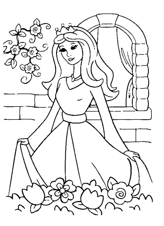 573x787 Princess Coloring Page Coloring Book