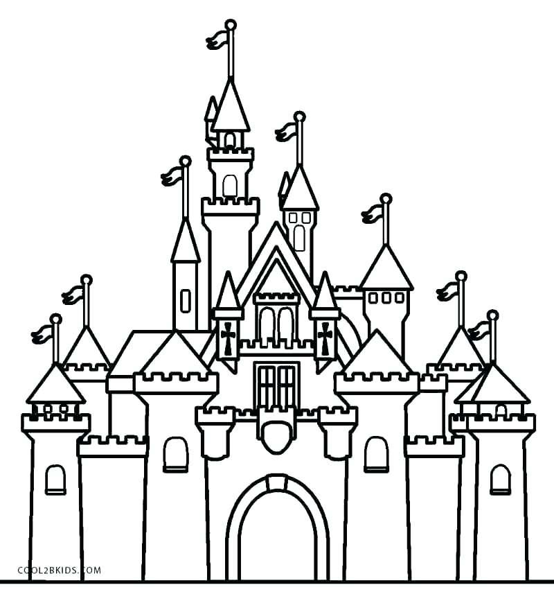 800x857 Princess Castle Coloring Page Castle Color Page Castle Coloring