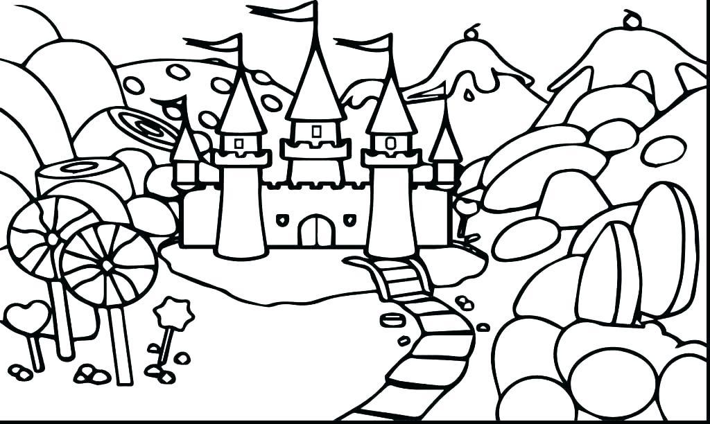 1024x612 Princess Castle Coloring Page Medieval Castle Coloring Pages