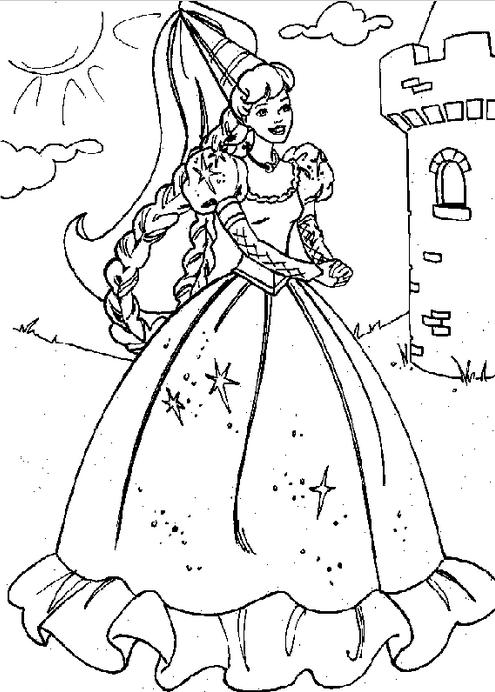 495x692 Princess Castle Coloring Page Coloring Book