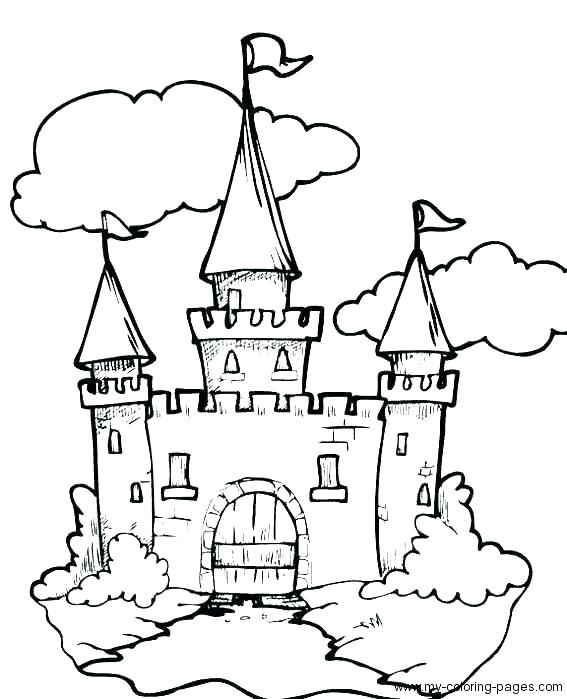 567x699 Princess Castle Coloring Pages Water Day Page Book C