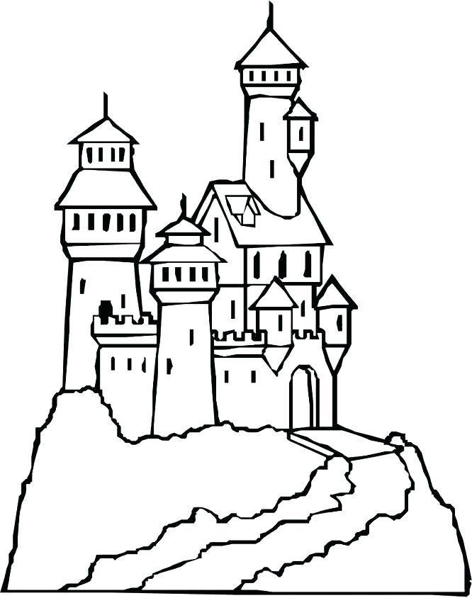 666x844 Castle Coloring Pages Castle Colouring Pages A Magical Castle