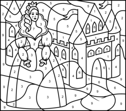 256x226 Princess And Castle Coloring Page Printables Apps For Kids