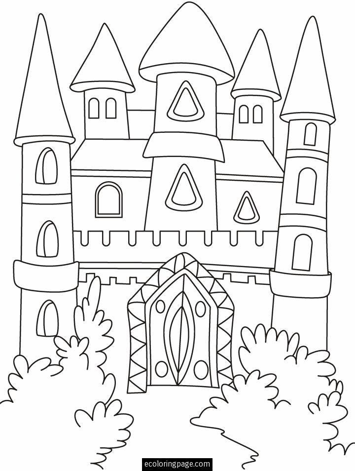 720x954 Fantasy Castle Coloring Page Printable Castles