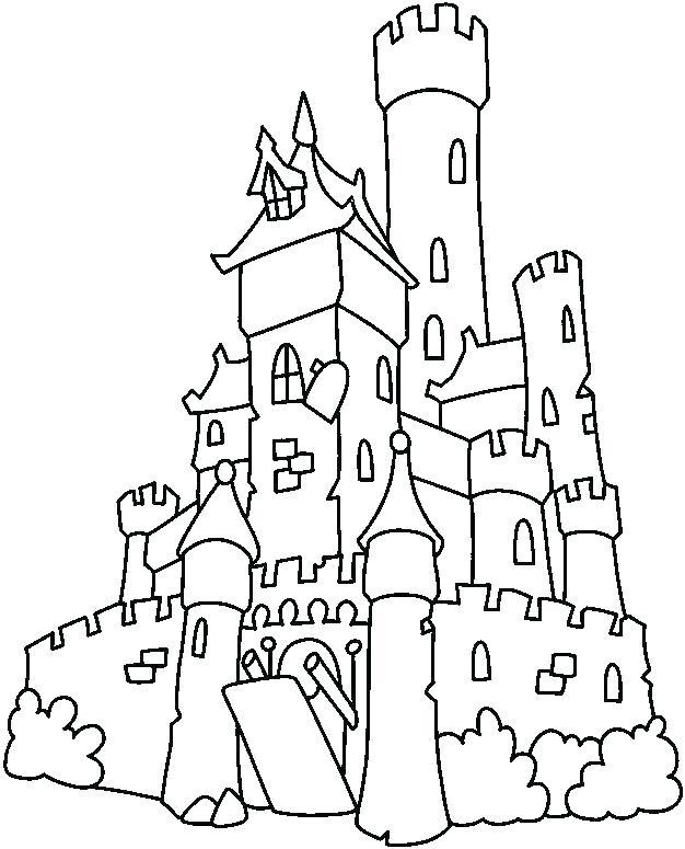 626x775 Princess Castle Coloring Page