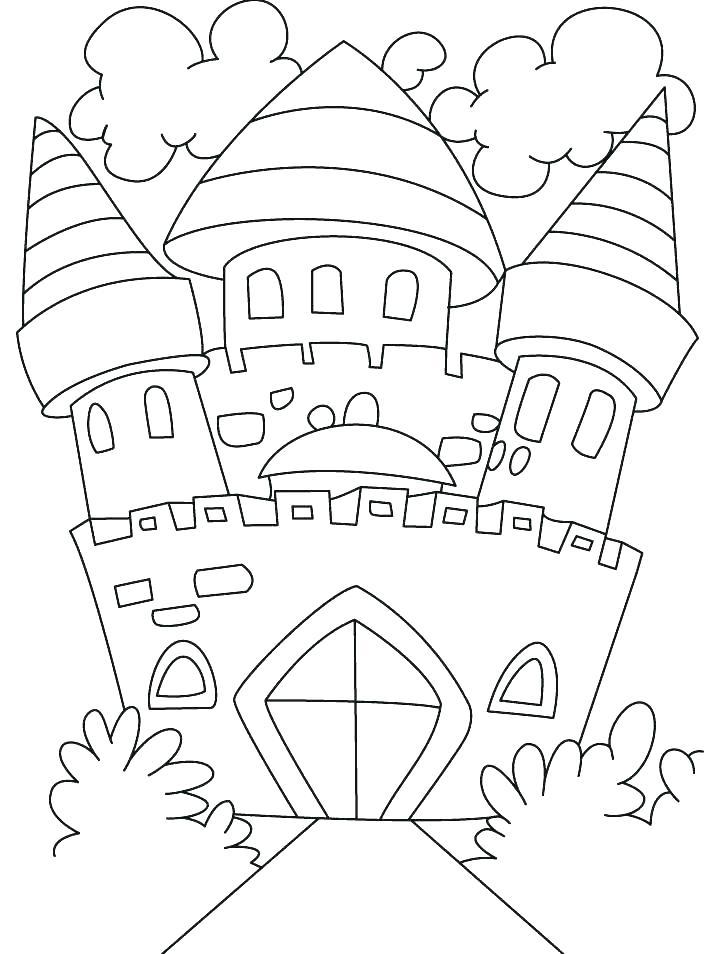 720x954 Castle Coloring Pages Coloring Pages Castles Castle Color Page