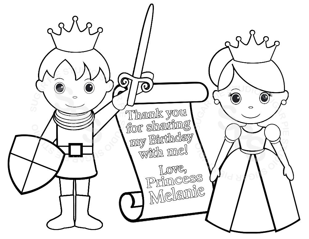 Princess And Knight Coloring Pages