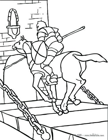 364x470 Knight Coloring Pages Knight On Horseback With A Princess Knight