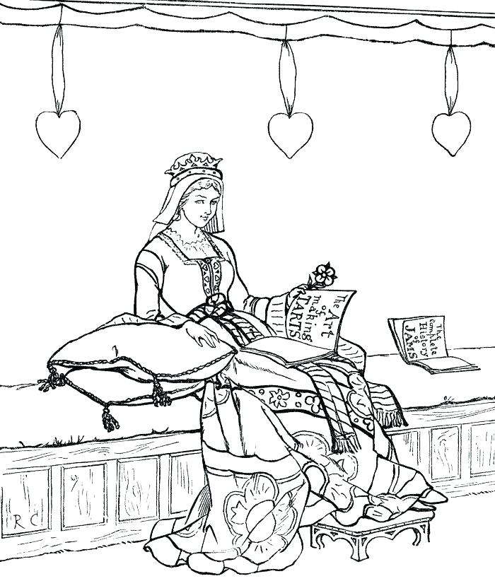 700x822 Medieval Coloring Pages Medieval Coloring Sheets Medieval Princess
