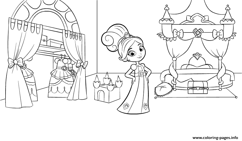 960x560 Nella The Princess Knight In Bedroom Coloring Pages Printable