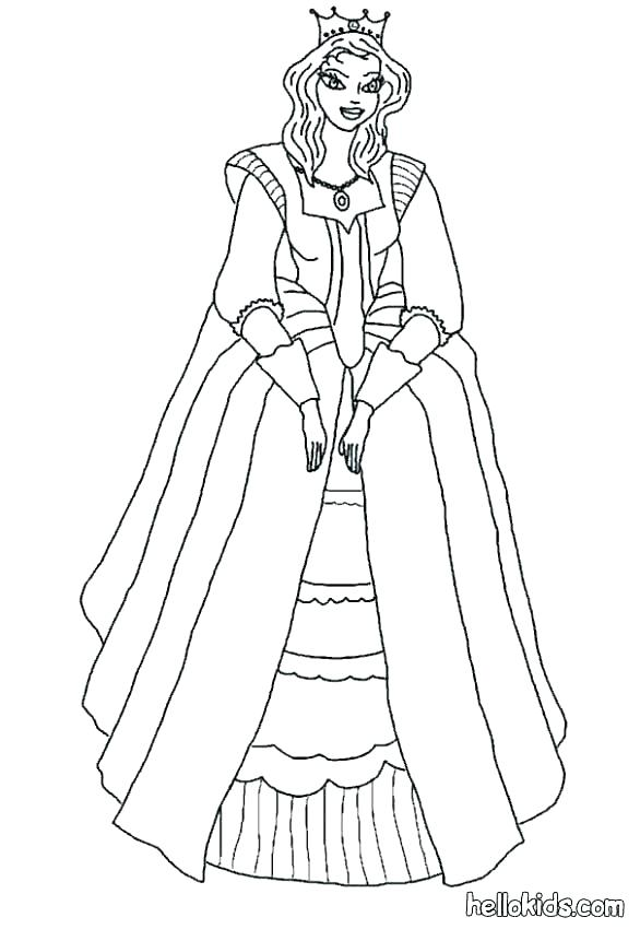 586x850 Princess Knight Coloring Pages Medieval Sheets Co