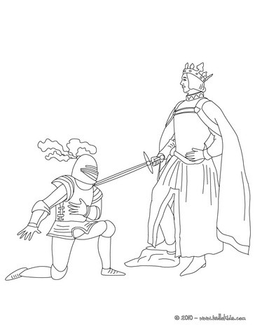 364x470 Knight Coloring Pages