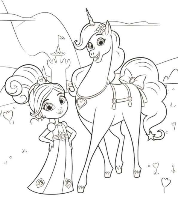 595x744 Kids N Coloring Pages Of Nella The Princess Knight