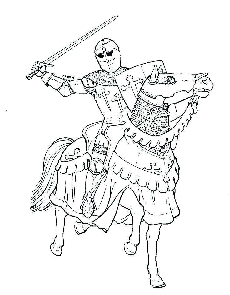 736x946 Knight Coloring Page Coloring Pages Knights Coloring Pages