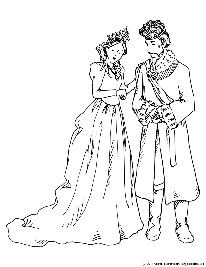 Princess And The Pea Coloring Pages