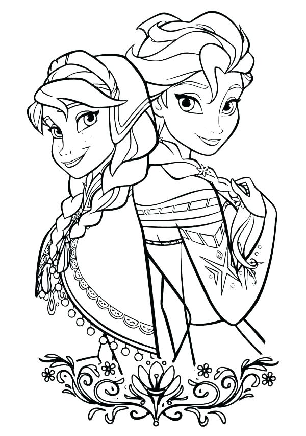 600x853 Frozen Elsa And Anna Coloring Pages And Coloring Pages Printable