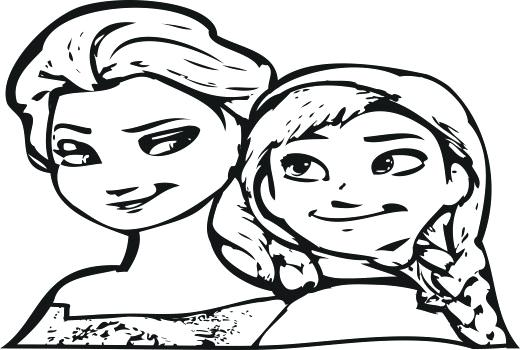 520x350 Inspirational Princess Coloring Pages Frozen And Frozen Coloring