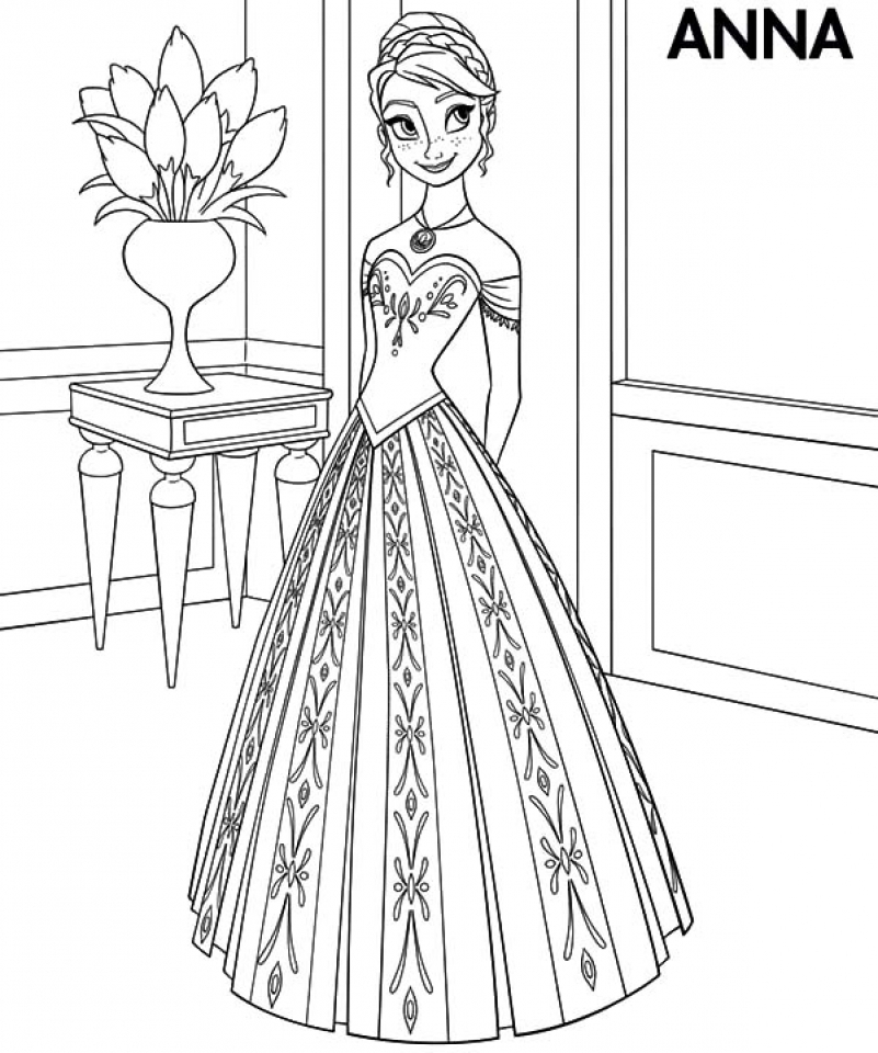 801x960 Princess Anna Coloring Pages Princess Anna Coloring Pages