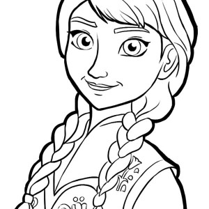300x300 Queen Elsa And Princess Anna Is Going To Party Coloring Pages