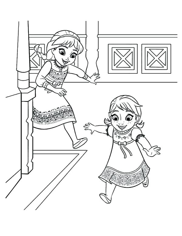 600x778 Anna And Elsa Coloring Pages Icontent
