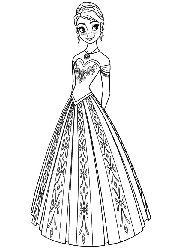 600x840 Anna Coloring Page Inspirational Queen Elsa And Princess Anna