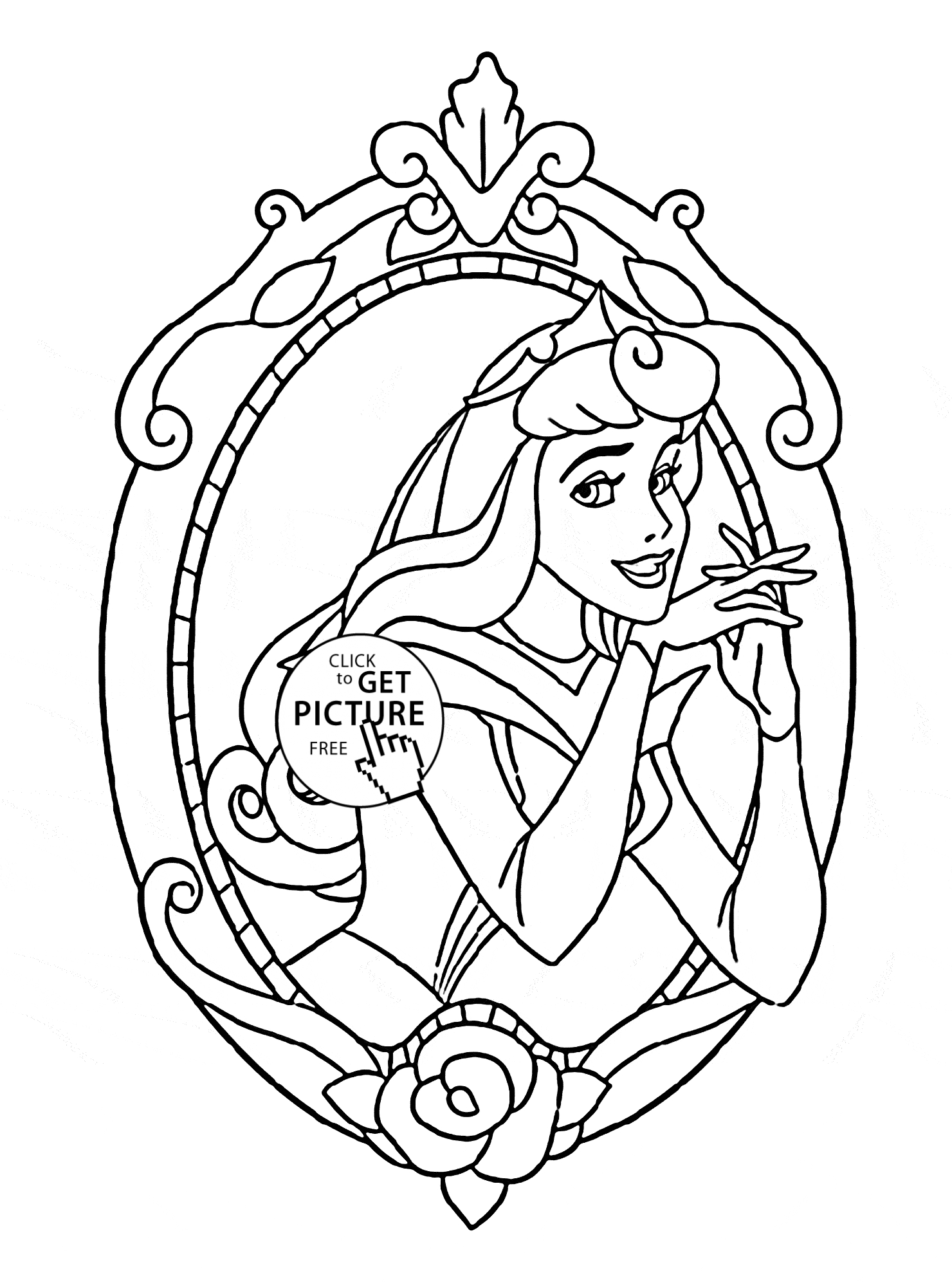 Princess Aurora Coloring Page
