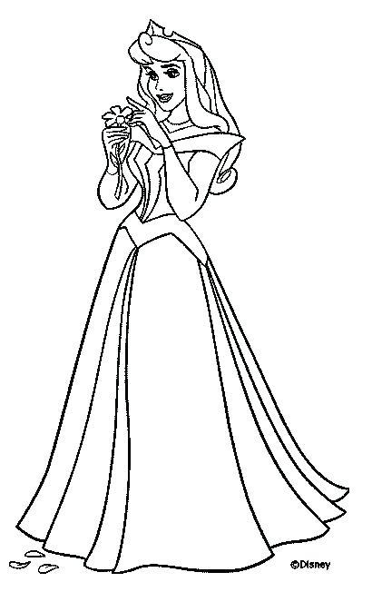 410x652 Aurora Princess Coloring Page Princess Coloring Page Print