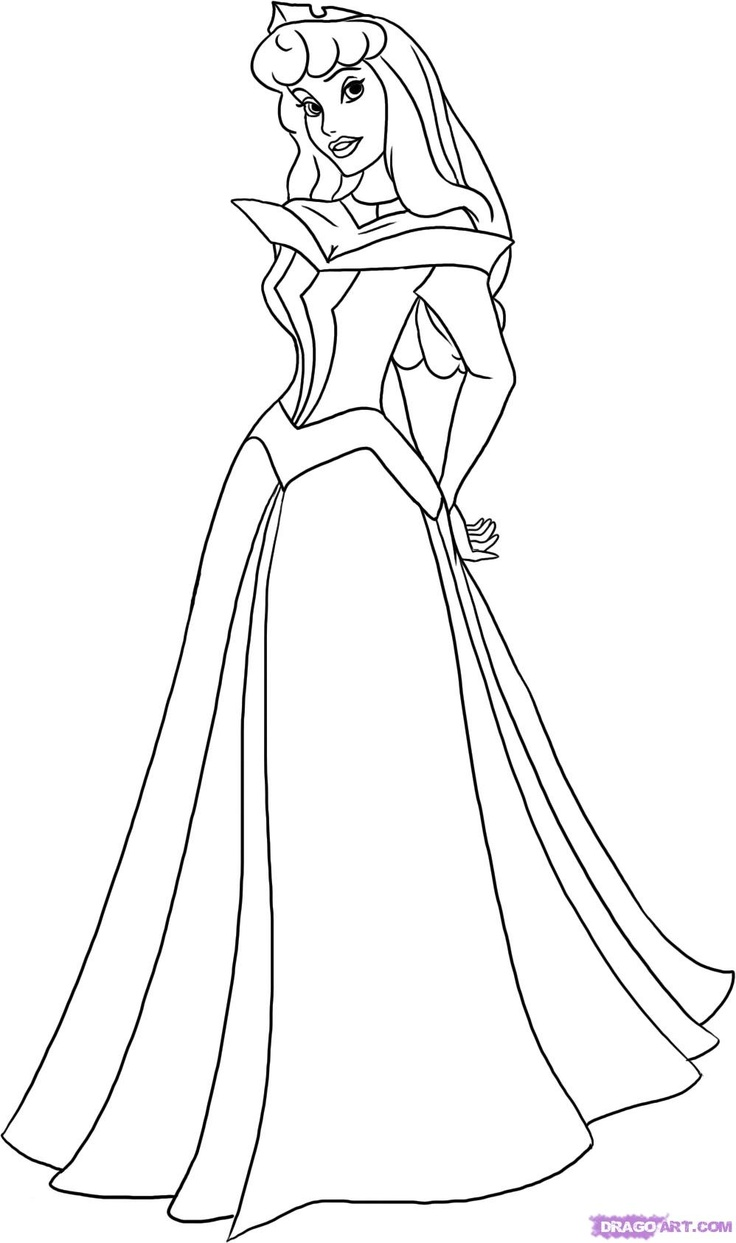 736x1243 Disney Princess Aurora Coloring Pages To Page
