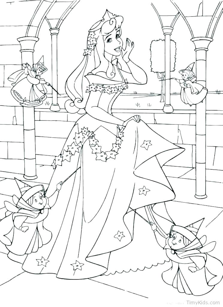 744x1024 Princess Aurora Coloring Page Coloring Pages Sleeping Beauty
