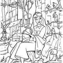 220x220 Princess Aurora Dancing Coloring Pages