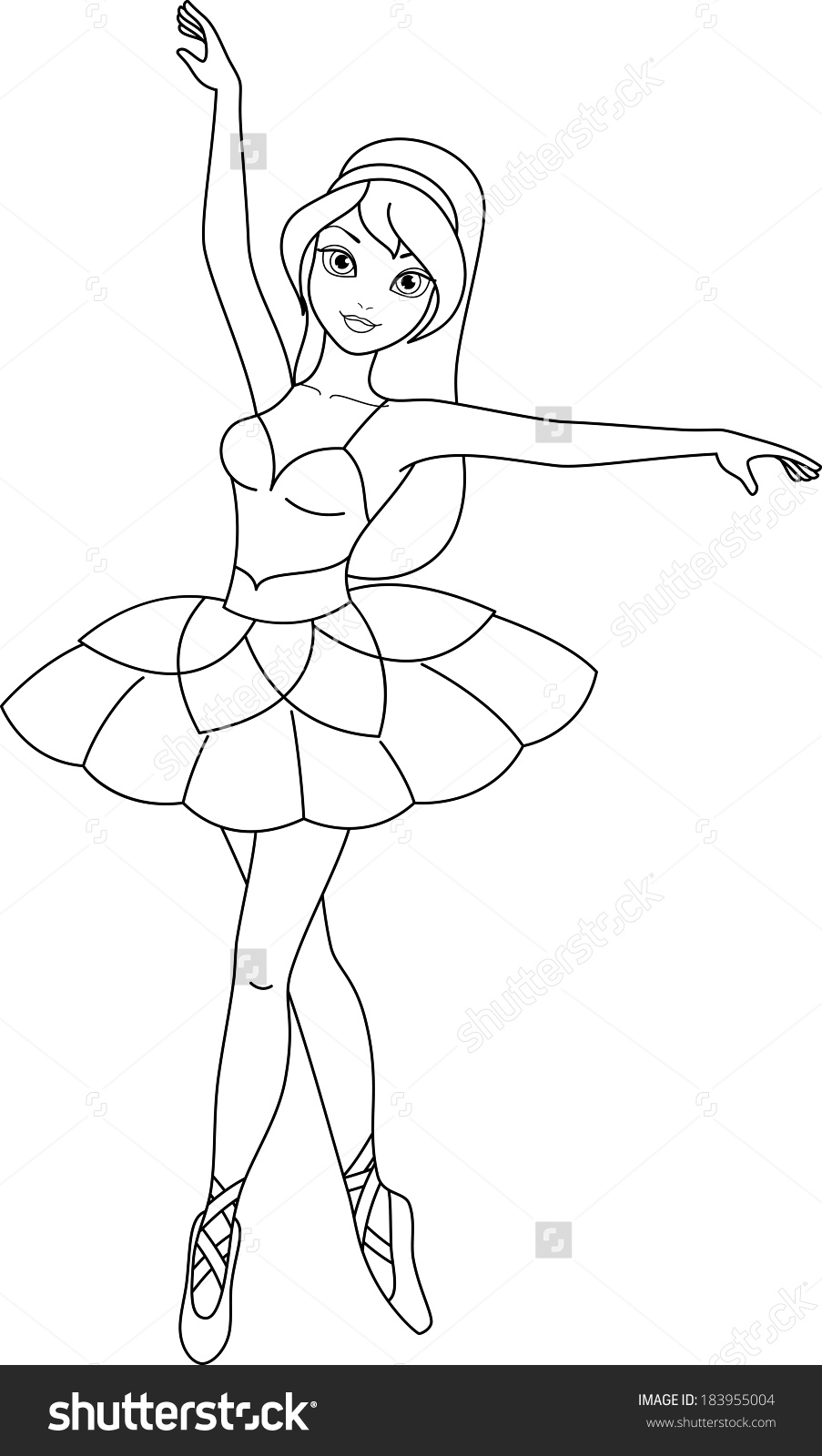 903x1600 Launching Ballerina Colouring Page Coloring