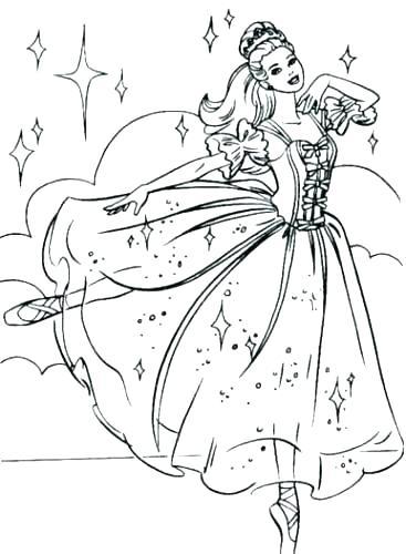 367x500 Princess Ballerina Coloring Pages