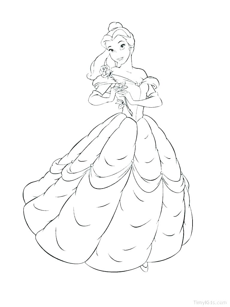 Princess Belle Coloring Pages At Getdrawings Com Free For Personal