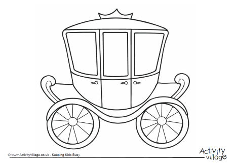 460x323 Carriage Colouring Page