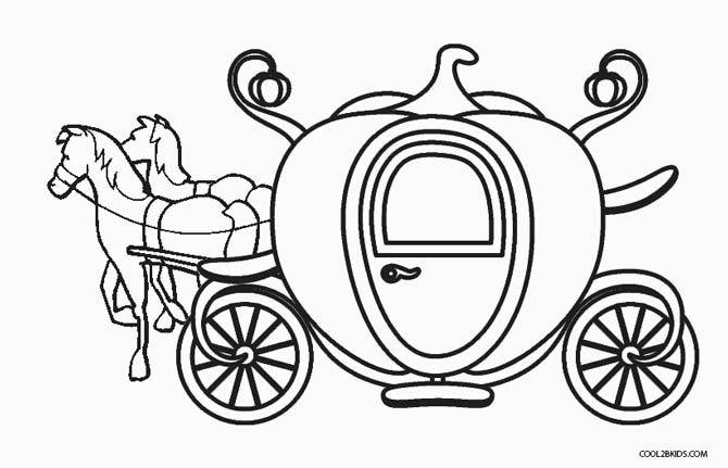 670x431 Cinderella Carriage Coloring Page
