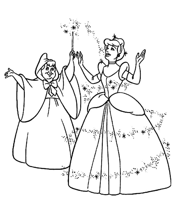 700x806 Cinderella Carriage Coloring Pages