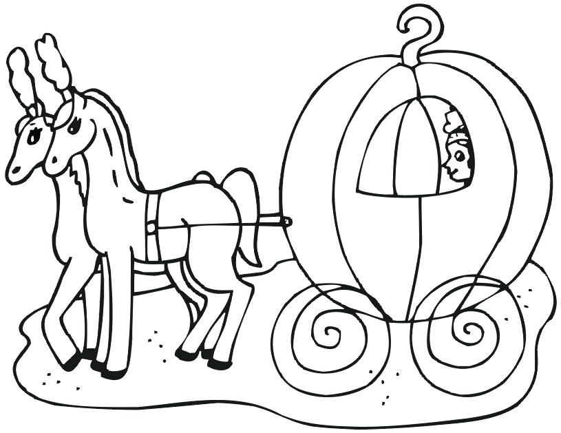 815x629 Cinderella Castle Coloring Pages Print Kids Coloring Carriage