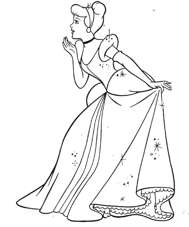 646x774 Awesome Cinderella Coloring Page Logo And Design Ideas