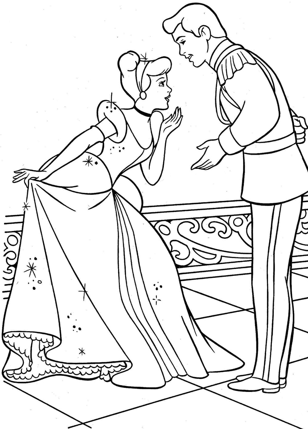 1000x1389 Cinderella Coloring Pages To Print